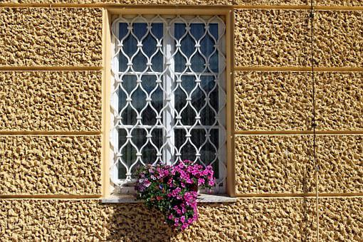 Window Grilles, Window, Grid, Old, Facade, Grate