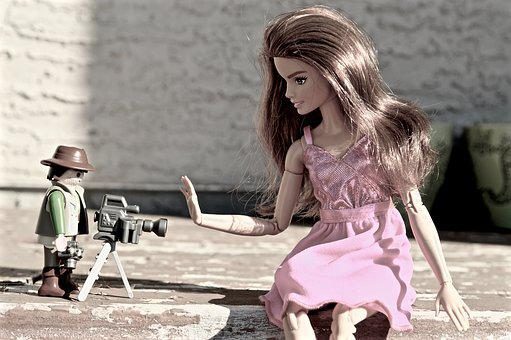 Barbie, Camera, Paparazzi, Photographer, Photography