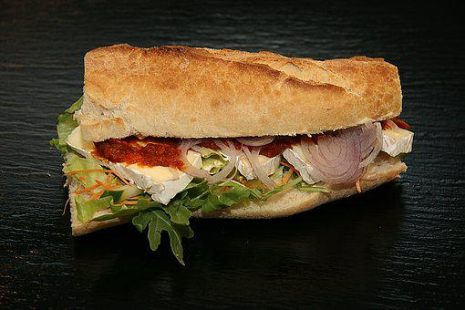 Sandwich, Brie, Cheese, Salad, Rukola, Dining, Food