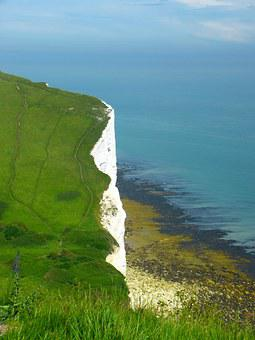 Chalk Cliffs, England, Cliffs, Demolition Edge, Sea