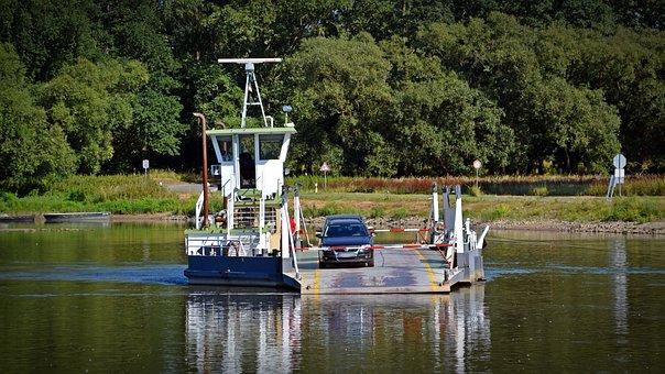 Ferry, Ship, Boat, Car Ferry, Gierseilfäfre