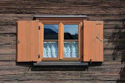 Shutter, Farmhouse, Wooden Windows, Wooden Boards