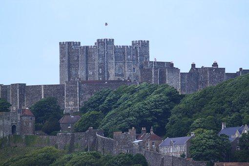 Dover, On, White Cliffs, Dover Castle, Port Dover, Sky