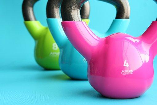 Kettlebells, Gym, Exercise, Slimming, Dumbbell