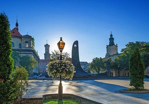 Lviv, Center, Ukraine, Landscape, Baroque, Style