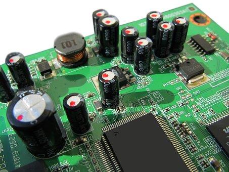 Board, Circuits, Control Center, Technology, Silver