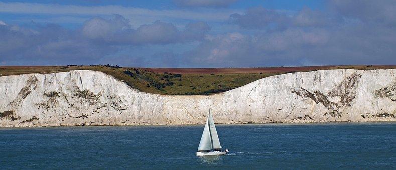 White Cliffs, Dover, Coast, England, Uk, United Kingdom