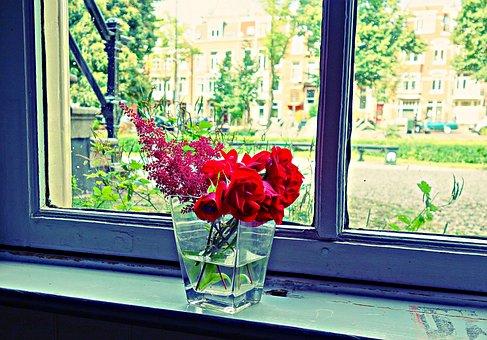Bouquet, Flowers Bouquet, Vase, Flowers In Vase