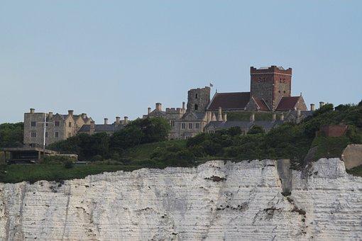 Dover, White Cliffs, Dover Castle, United Kingdom
