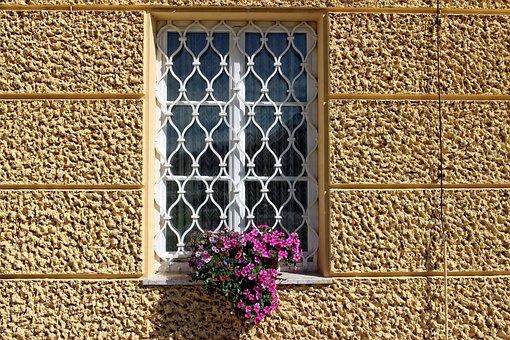 Window Grilles, Window, Grid, Old, Facade, Grate