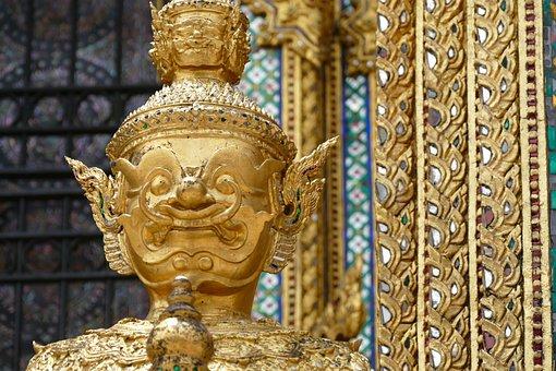 Golden, Art, Buddha, Ornament, Sculpture, Statue