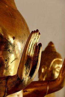 Buddha, Buddhism, Statue, Gold, Sculpture, Religion