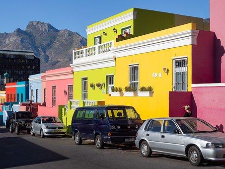 Bo-kaap, Wale Street, Car, House, Building, City, Bus