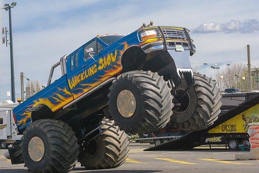 Vehicle, Transport, Automobile, Cascade, Stuntman, Show