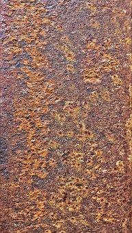 Metal, Weathered, Rusty, Auburn, Detail, Background