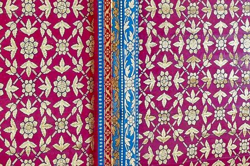 Pattern, Ornament, Art, Floral, Textile, Craft, Temple