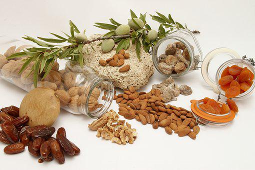 Food, Healthy, Dried Fruits, Nuts, Nut, Almonds, Dates