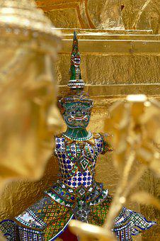 Ornament, Golden, Religion, Buddha, Buddhism, Gold