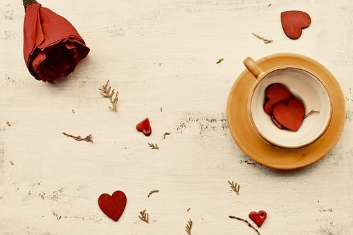 Desktop Background, Coffee Table, Romance, Love, Hearts