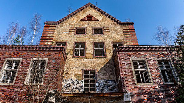 Home, Old, Building, Window, Brick, Facade, Leave
