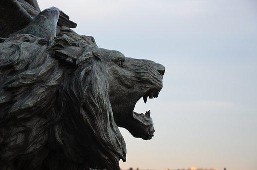 Statue, Sculpture, Sky, Animal, Art, Lion, Monument
