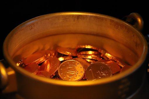Treasure, Gold, Pot, Milk, Thaler, Coins, Pirates