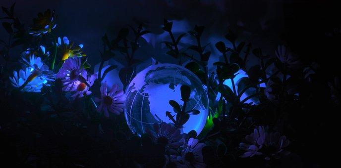 Desktop, Nature, Underwater, Dark, Color, Light, Moon
