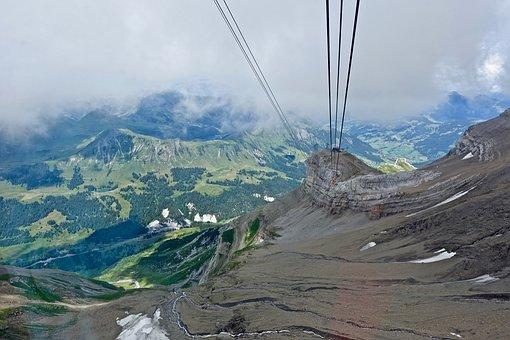 Cable Car, Alps, Highlands, Nature, Mountain, Landscape