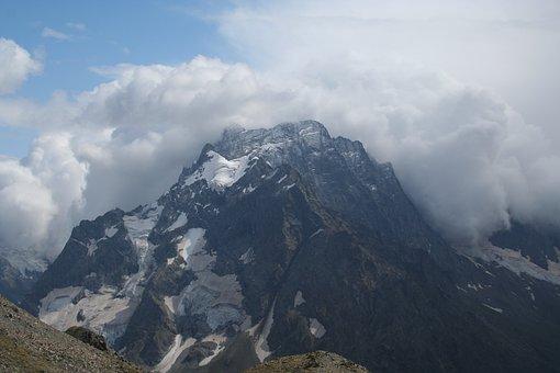 Mountain, Panoramic, Snow, Nature, Landscape