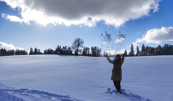 Snow, Winter, Cold, Nature, Frost, Woman, Girl