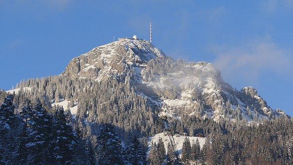 Snow, Nature, Mountain, Winter, Wood, Sky, Landscape