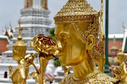 Golden, Buddha, Wat, Temple, Ornament, Religion, Statue