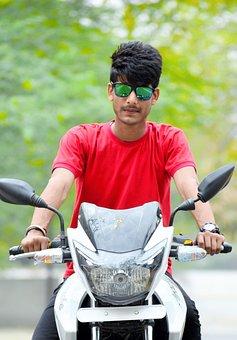 Outdoors, Young, Fun, Summer, Bike, Sport, Man, Boy
