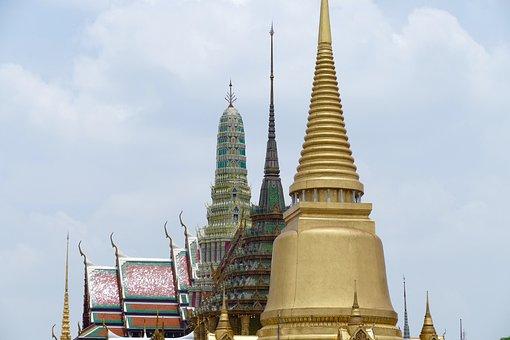 Temple, Wat, Buddha, Pagoda, Religion, Stupa