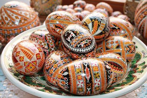 Ornament, Easter Eggs, Painted Eggs, Pysanka