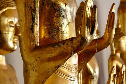 Sculpture, Golden, Religion, Buddha, Statue, Temple