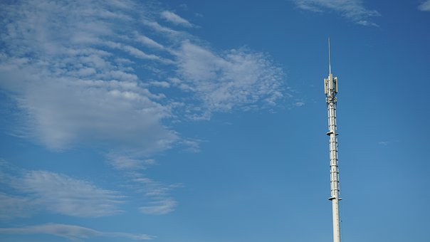 Sky, High, Tower, White, Building, Signal Tower