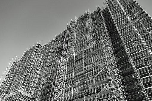 Skyscraper, Scaffold, Scaffolding, Architecture