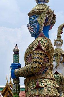 Buddha, Statue, Sculpture, Temple, Religion, Protectors