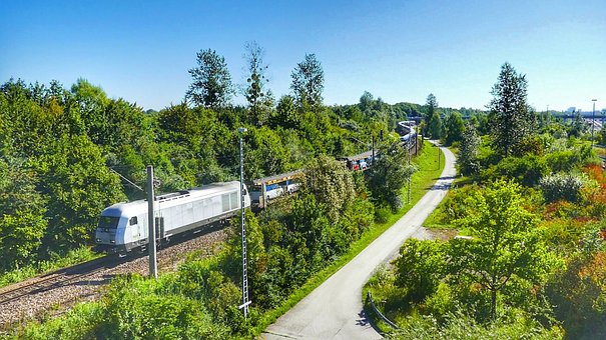 Nature, Tree, Travel, Summer, Wood, Train, Railway
