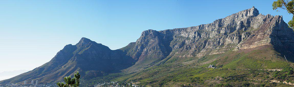 Table Mountain, City, Panorama, Architecture, Building