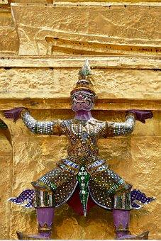 Religion, Art, Temple, Wat, Protectors, Temple Complex