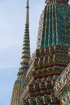 Wat Pho, Travel, Sky, Building, Temple, Tourism