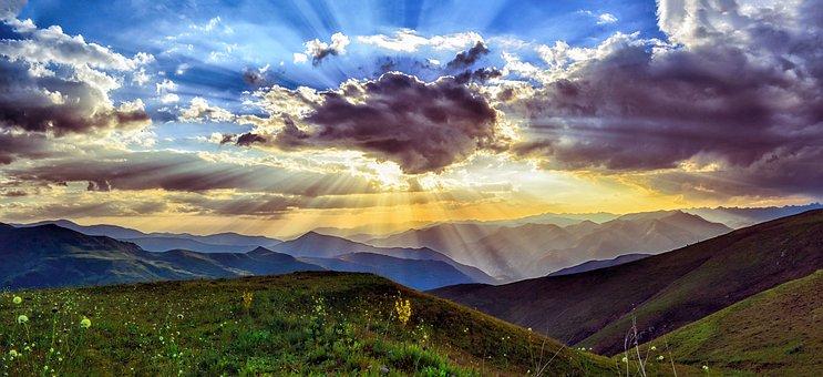 Sunset, Dawn, Nature, Mountain, Turkey, Landscape