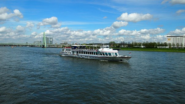 Waters, Travel, River, Sky, Sea, Rhine, Cologne, Water