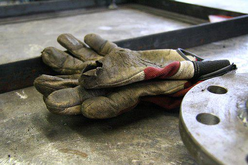 Old, Work Gloves, Work, Protection, Dirty, Workers