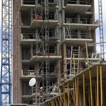 Construction, Scaffolding, Building, Build, Worker