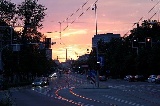 Transport, Street, City, Travel, Traffic, Wrocław