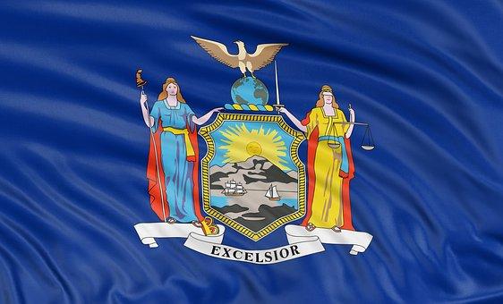 New, York, State, Flag, Banner, Travel, National