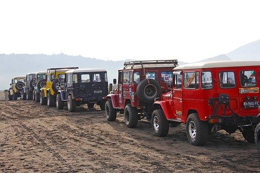 Jeep, Ride, Mount Bromo, Indonesia, Adventure, Exciting